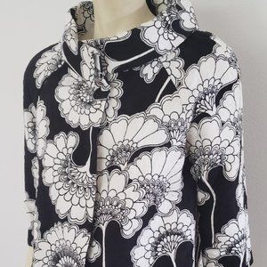 Kate Spade black white pop vintage style jacket 6